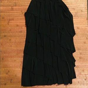 WHBM Black Sleeveless Stretchy Layered Dress SZ XS